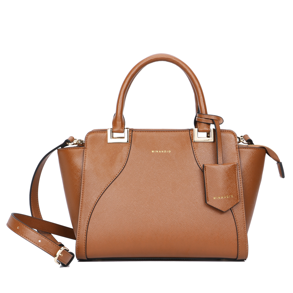 MINANDIO 2018 trend fashion low moq pebble leather ladies bags women's PU saffiano leather bag shoulder <strong>handbags</strong>