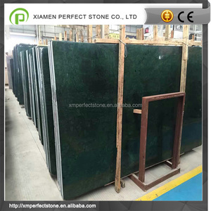 Dark green marble cut-to-size polished green marble tile