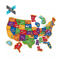 Magnetic USA Map Puzzle Jigsaw for Kids Geography Learning / Children Home Education