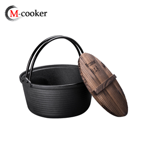 Cast iron camping dutch oven cookwares for junket