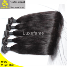 Luxefame soft and smooth straight wavy virgin indian 6a cheap bundles