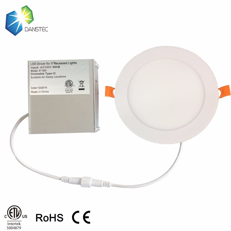 2019 aluminum housing panel light dimmable WW/PW/CW colors led ceiling light driver built in junction box