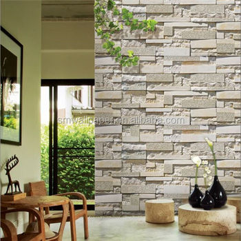 Marble Wall Stone Wallpaper Vinyl Pvc Wallcoverings For Home Interior Decals