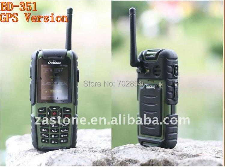 Police use waterproof GSM Walkie talkie phone/cellphone UHF400-470 MHZ  BD-351with SIM card slot GPS Version