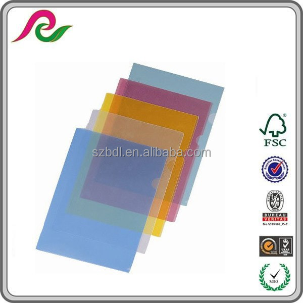 High quality lower price colorful L shape file folders supplier for singapore