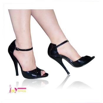 Terbaru wanita sandal wanita sepatu hak tinggi baru sandal model wanita  hitam buckle strap peep toe 07e69fb5c5