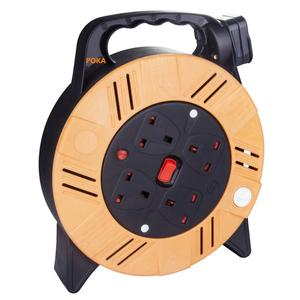 garden extension drum retractable electric cable reel