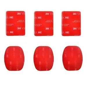 PULUZ 3 Flat 3M VHB Adhesive Pad Stickers + 3 Curved 3M VHB Adhesive Pad Stickers for GoPro HERO4 Session /4 /3+ /3 /2 /1 /+LCD
