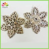 Christmas plastic ornament with snowflake design