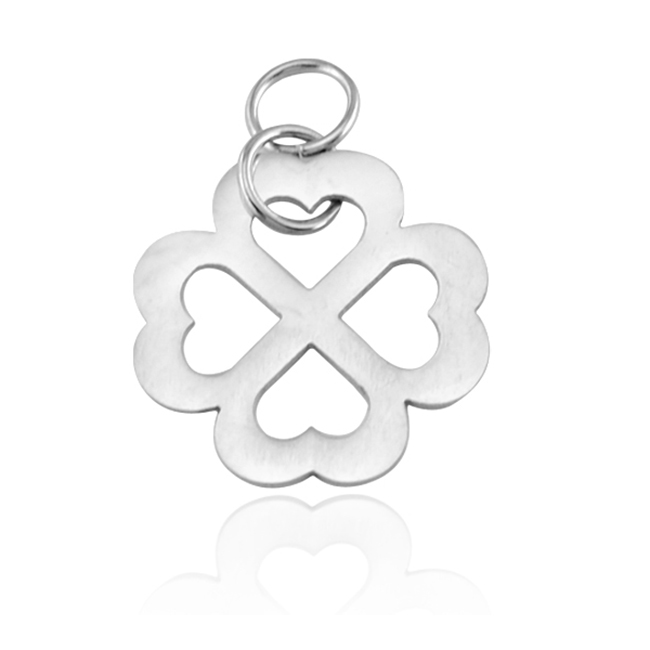 Clover shaped women gift wholesale cheap custom stainless steel charms <strong>pendants</strong>