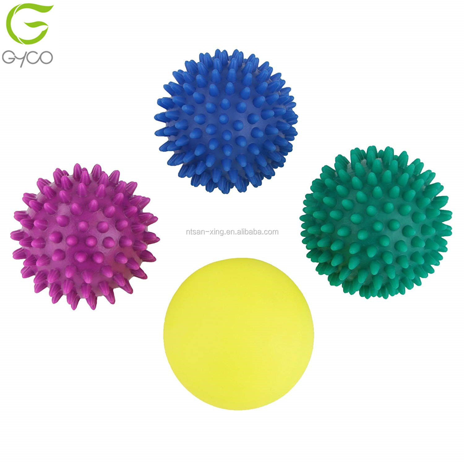 7.5cm  soft Spikey Massage Ball PVC Grip Ball