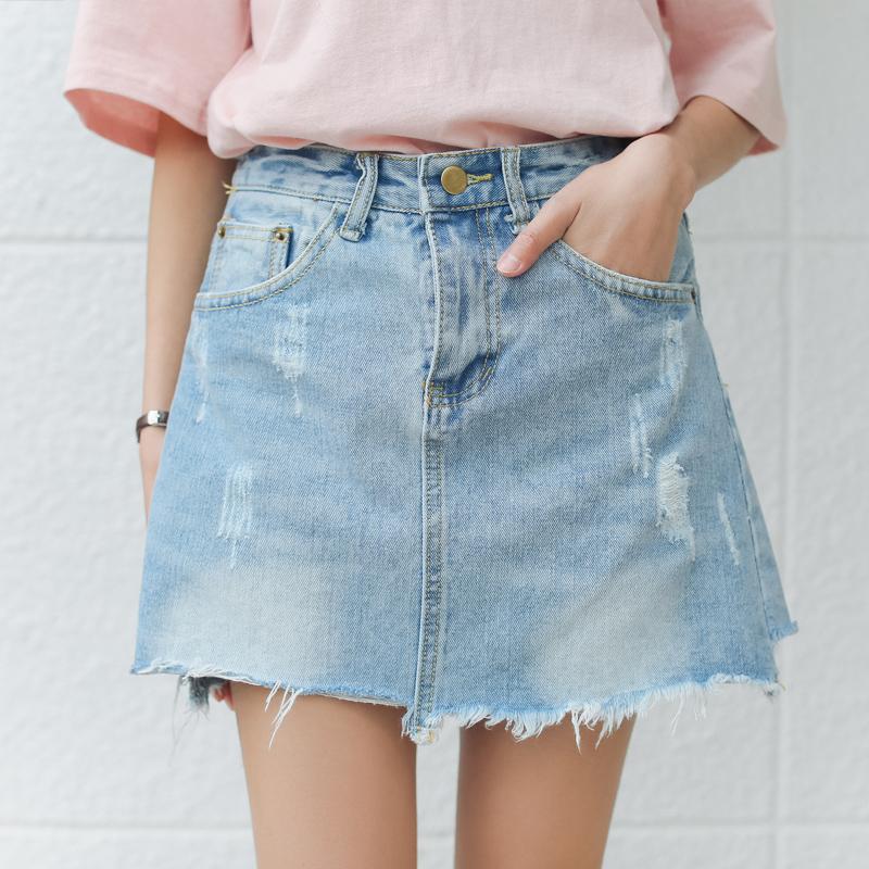 4ce9983b1 Venta al por mayor jean faldas mini-Compre online los mejores jean ...