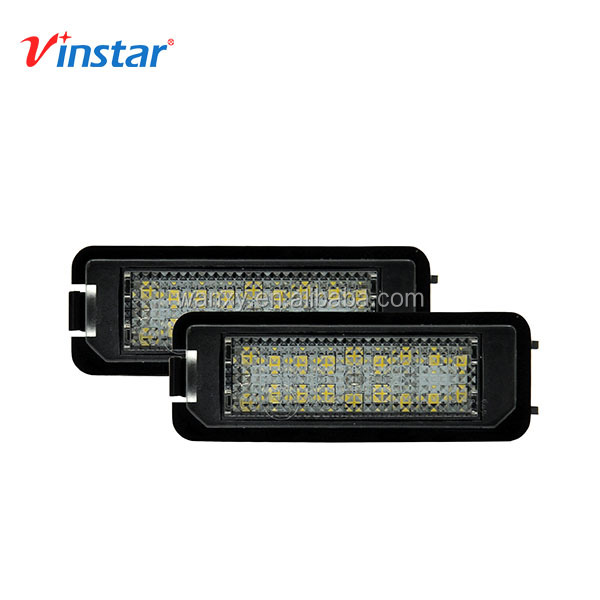 Factory supply 12v canbus no error led license plate light for Skoda Superb 4D 2008~ led tail lights