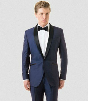 Newly Arrive Solid Royal Blue Tuxedo Elegant Suit For Men Wedding