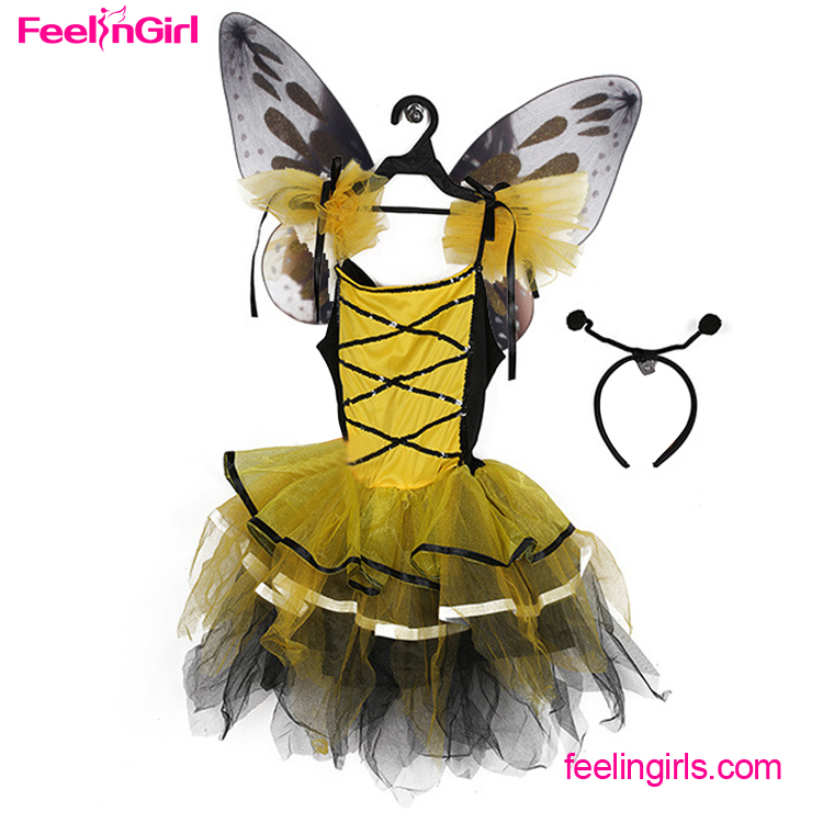Drop shipping Costume Season Butterfly Carnival Costumes For Kids 2016