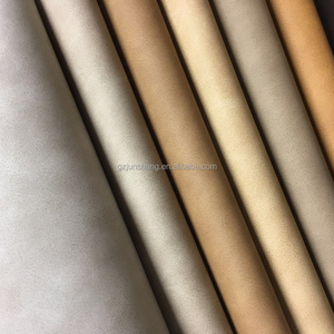 Nubuck design pu materials synthetic leather for handbag and shoes making