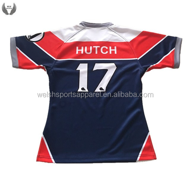 Wholesale sublimated all blacks rugby jersey