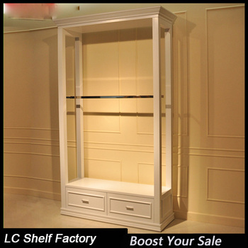 Gondola Wall Clothes Cabinets Hanging Clothes Storage Garment Shop Shelves