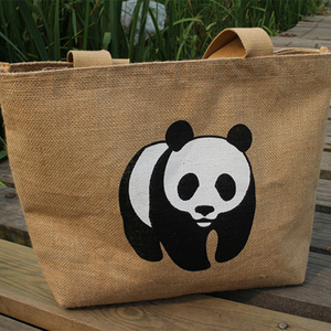 Yuanjie Wholesale bulk printing drawstring burlap bags with handles jute tote shopping bag