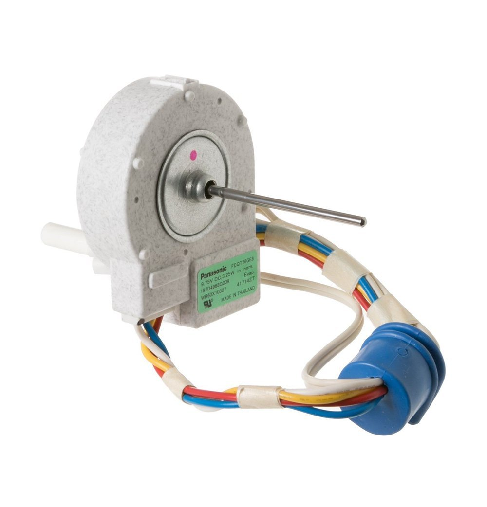WR60X10307 Refrigerator Evaporator Fan Motor fits General Electric and Hotpoint Replaces 1550741, AP4438809, WR60X10224