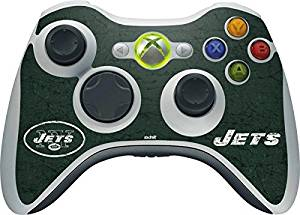 NFL New York Jets Xbox 360 Wireless Controller Skin - New York Jets Distressed Vinyl Decal Skin For Your Xbox 360 Wireless Controller