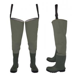 Mens Waterproof PVC Fly Fishing Hip Waders Durable PVC Safety Waders