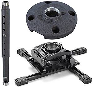 """Chief KITQD0305 Projector Mount Kit, Includes RPMAU Elite Universal Projector Mount, CMS0305 3-5' Adjustable Extension Column, CMS115 6"""" (152 Mm) Speed-connect Ceiling Plate"""