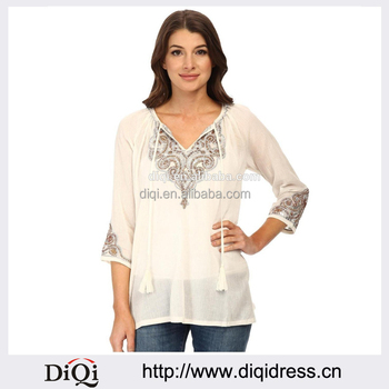 5b2dd863a990955 Летние Стильные женские повседневные свободные хлопок белье блузка Рубашки