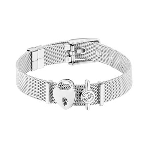2019 New Arrival Stainless Steel Buckle Mesh Belt Wristband Bracelet Stainless Steel Simple Keeper Series Milanese Loop Bracelet