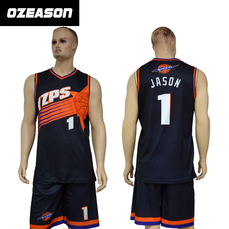 Benutzerdefinierte Sublimated Cheap Basketball Jersey Design
