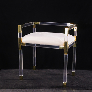 Acrylic Lounge Chair Metal Chairs With Arms Lucite Bathroom Vanity Stool