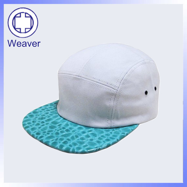 Fashion 100 Polyester 5 Panel Baby Hat Snapback Cap   Leather Design 5  Panel Blank Cap 04eb1dc5be6b