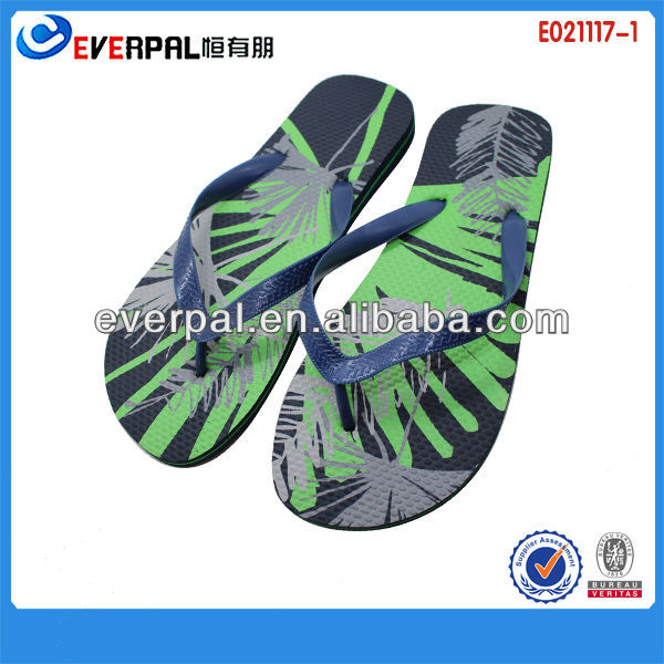 Hot Fashion Green High Quality PE Leisure Flip Flop