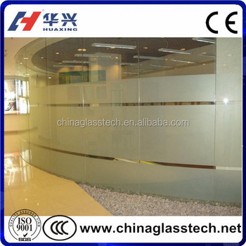 EN12150 laminated tempered electric frosting glass