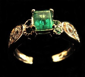 Yellow Gold Emerald Ring