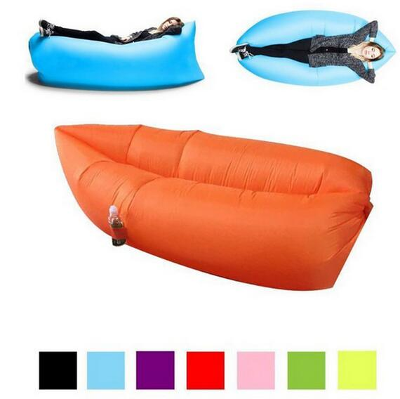 Portable Waterproof Outdoor Sleep Beach Camping Hangout Lounger Lamzac Folding Chair Lazy Bag Air Inflatable Sofa