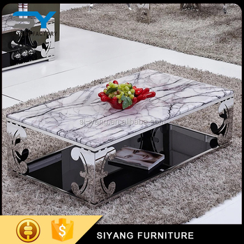 Best Price Space Saving Furniture Marble Tea Table For Sale CJ009