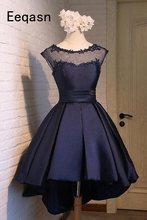 Красивые женские платья а-силуэта для Homecoming, кружевные Сатиновые Короткие праздничные Выпускные платья длиной до колена 2020(Китай)