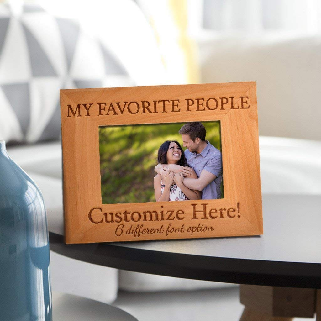 Be Burgundy - Personalized My Favorite People Photo Frame , Picture Frame - Custom Christmas Gift Frame - Birthday Gift, Valentine's Day Gift Picture Frame - 4x6 | 5x7 | 8x10 Size Options