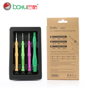 BAKU ba-3337 Phone Multi-function Precision Screwdriver Set Opening Kit Cell Phone Repair Tool 4 in 1 Set