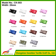 High Quality Colorful 15 Colors Available Plastic 25MM Width 1 Inch Side Release Buckle