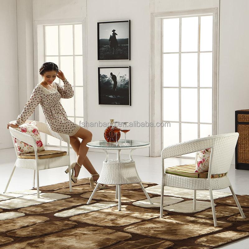 Venta al por mayor mesas de jardin redondas hierro blancas-Compre ...