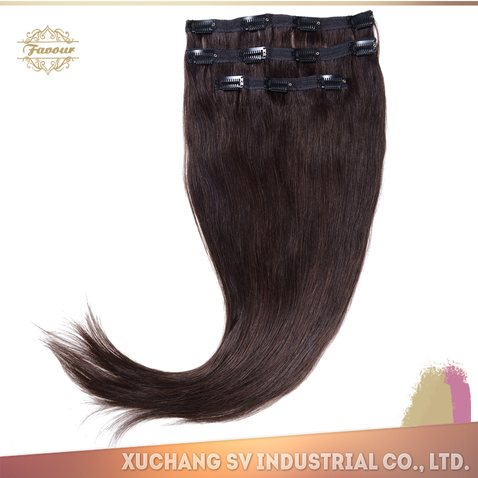 New Fashion Tending High Quality Cheap 100% Human Afro Full Head Hair Clip in Hair Extension for Beatiful Women