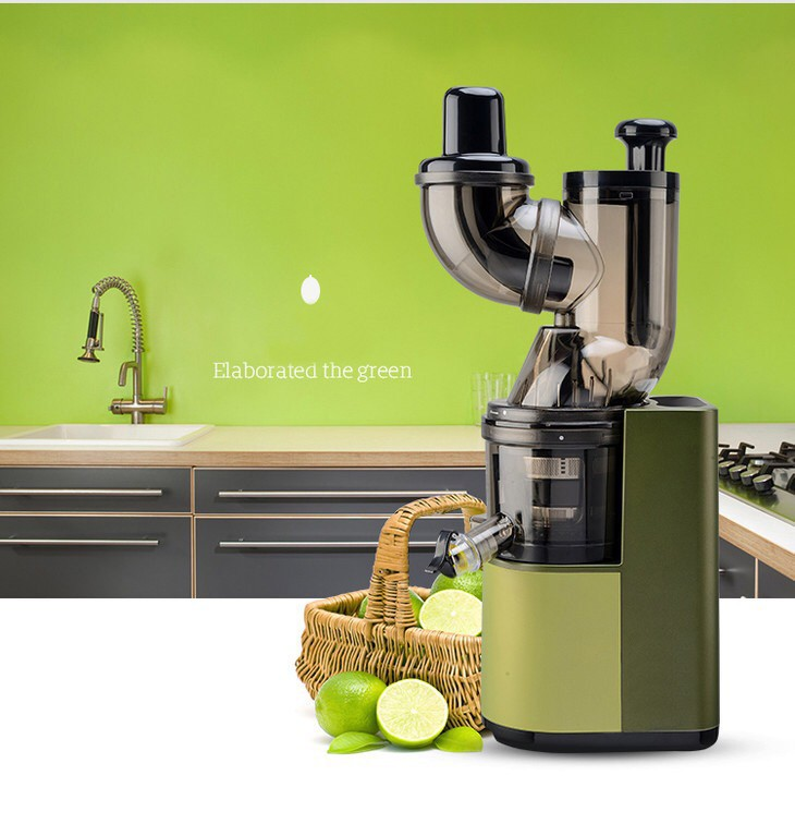 LF-6218 New arrival 200W AC induction motor 80mm whole apple fruit big mouth 43 RPM cold press slow juicer