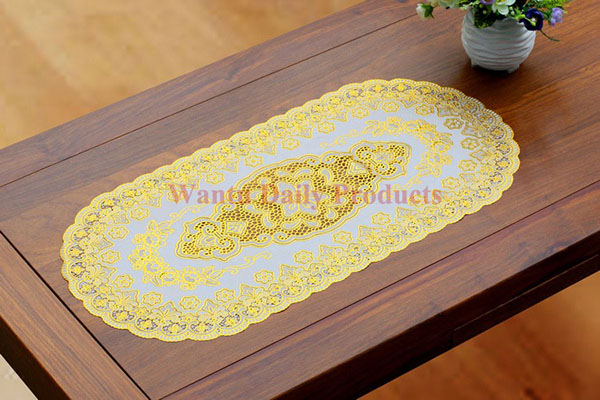Oval Dining Table Designs Fucun Shentangwu Pvc Woven Mesh Placemats