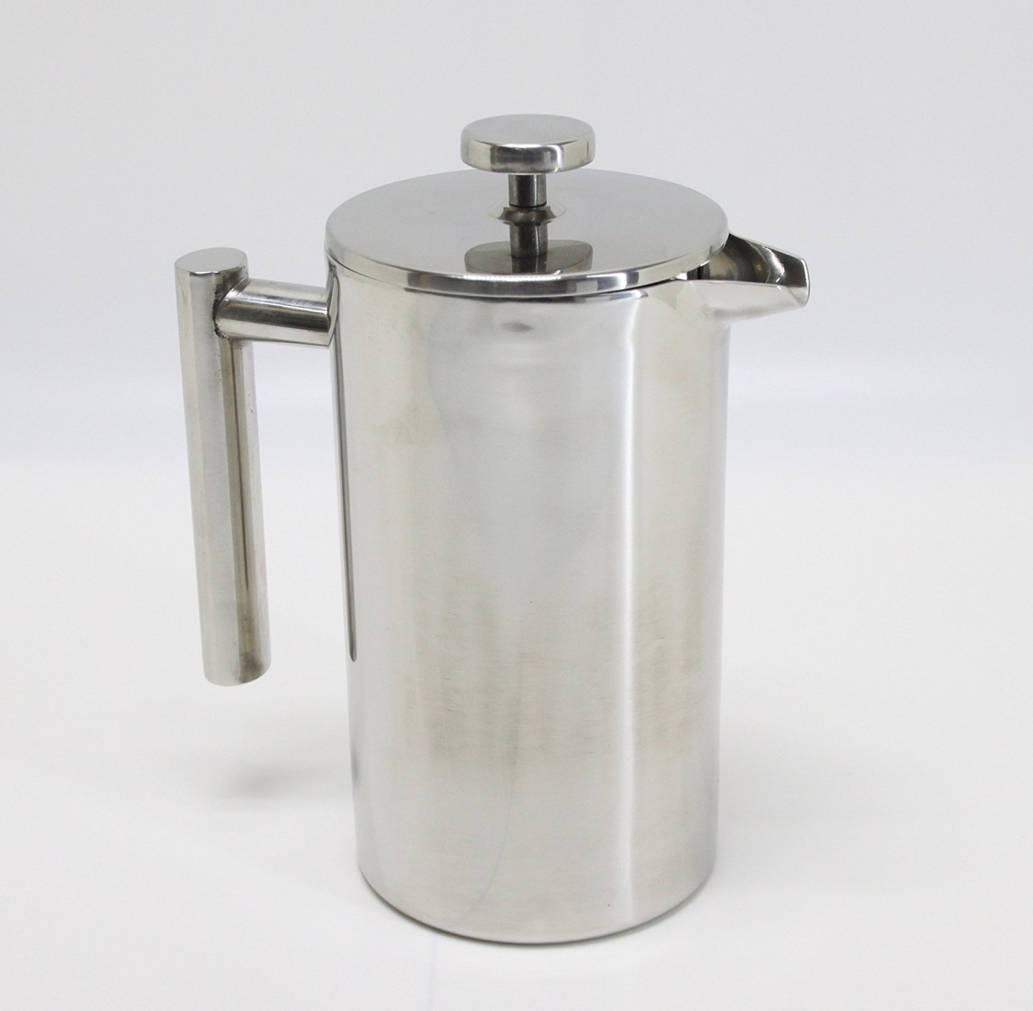 FixtureDisplays Double-Wall Stainless Steel French Coffee Press, 34 oz / 1 Liter 16030