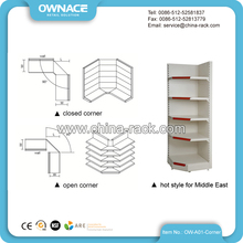Mini Metallic Supermarket No Tool Wall Corner Shelf