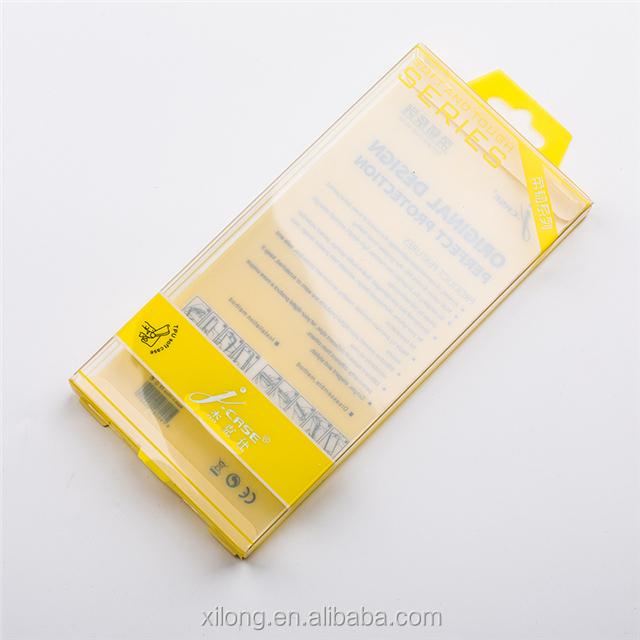 Custom Folding Cell Phone Case Packaging PVC PET PP Plastic Box For Mobile Case