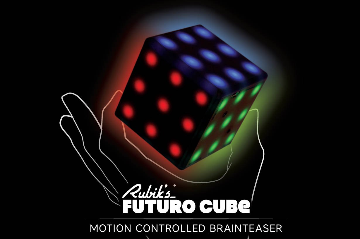 Rubik's Futuro Cube 2.0 - A new, customizable, 3x3x3 electronic cube with a variety of games, online capability, and multi-player supported!