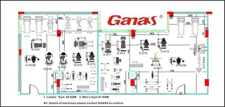 Ganas gym layout design